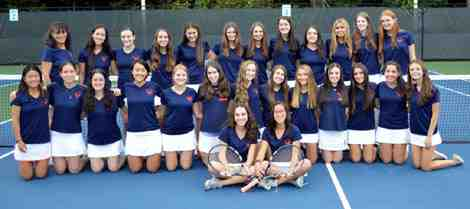 Greeley Girls Tennis Team 2015